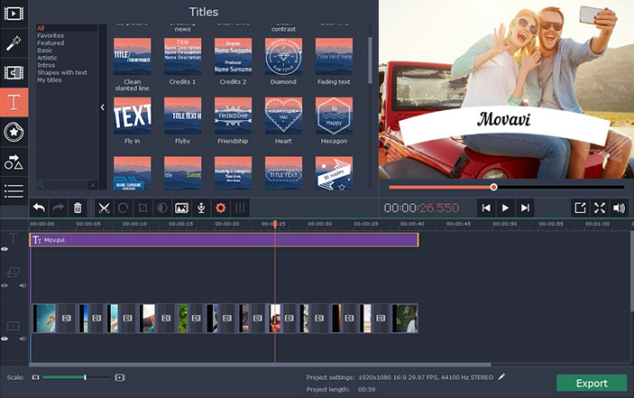 official video editor video editing software by movavi