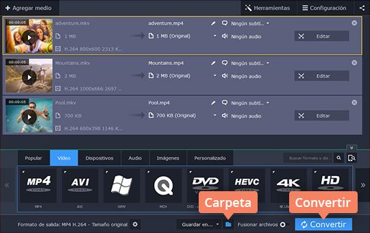 Use el conversor de MKV a MP4 Movavi Video Converter