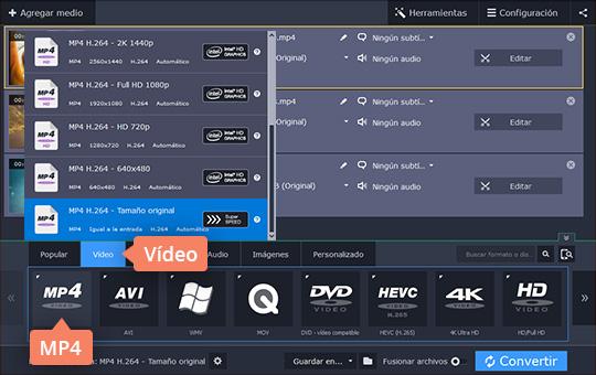 Convierta sus vídeos VOB a AVI y otros formatos con el software de Movavi