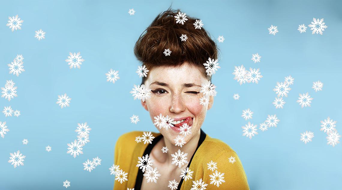 Создайте новогоднюю атмосферу с помощью летающих снежинок