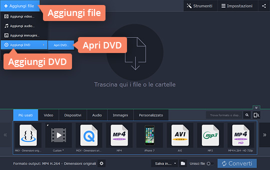 video se gratis convertire file mp4 in avi