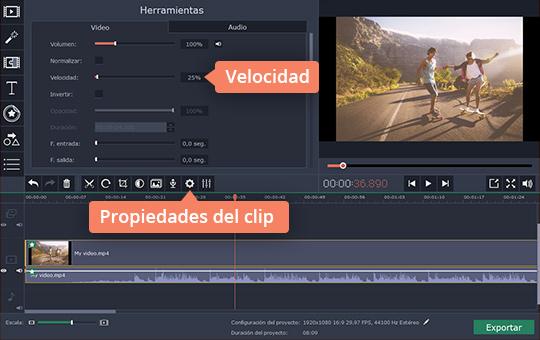 Ralentice sus vídeos fácilmente con Movavi Video Editor