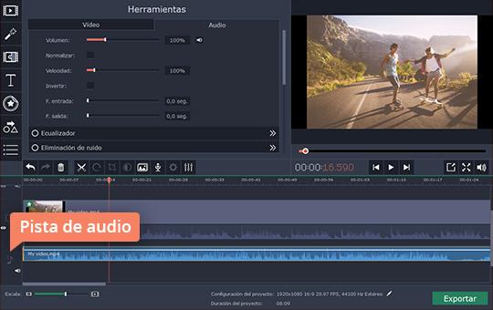 Ponga sus vídeos en cámara lenta con el editor poderoso de Movavi