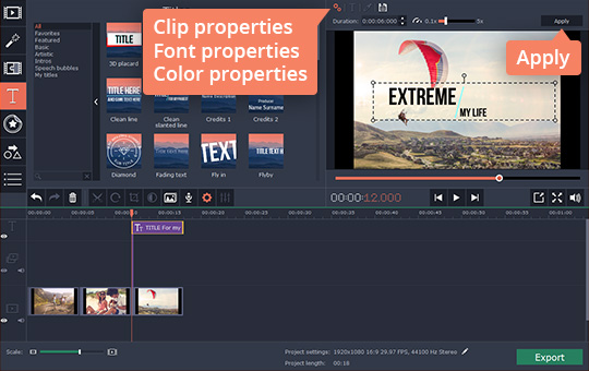 Add text to videos how to add subtitles to a video adjust the titles and callouts ccuart Choice Image