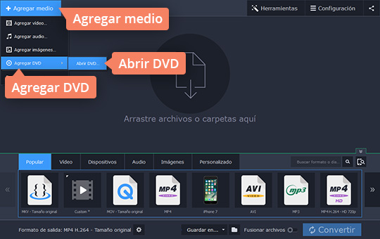 Convierta su vídeo VOB a MP4 u otros formatos con Movavi Video Converter