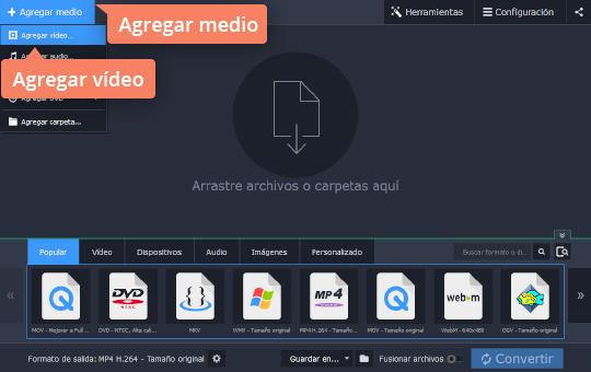 Reduzca el tamaño del vídeo con el software fácil de usar de Movavi