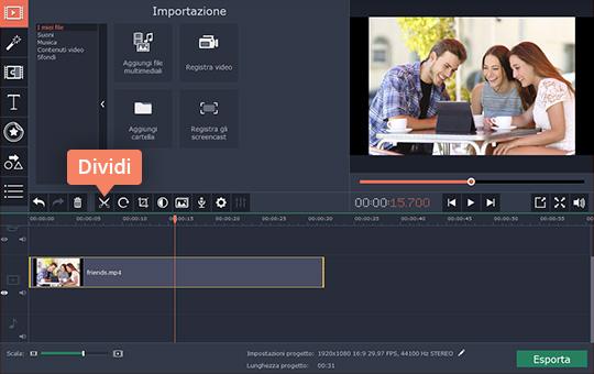 Scoprite il programma per tagliare video di Movavi