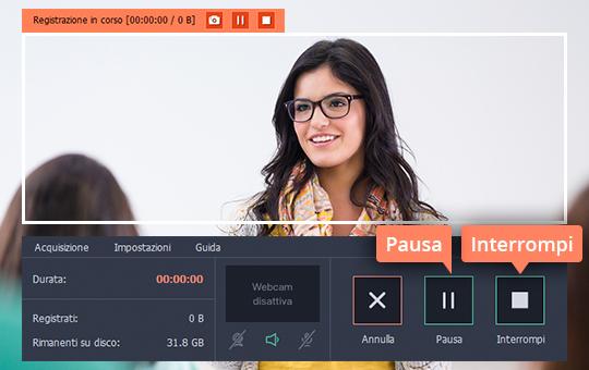 Provate il software per webinar di Movavi