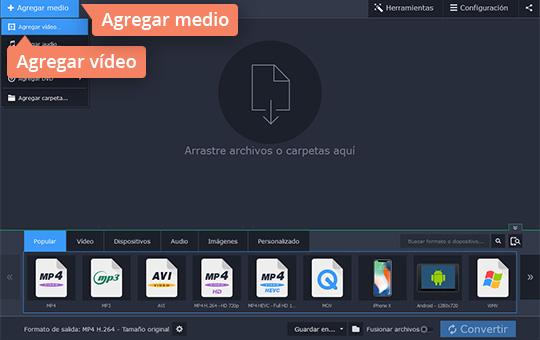 Convierta sus vídeos a AVI con el software fácil de Movavi