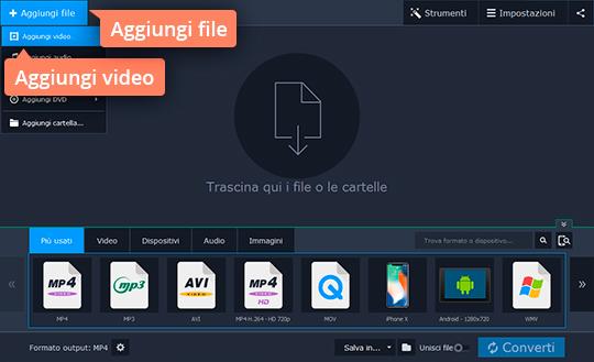 Convertite i file nel formato video per Ipad