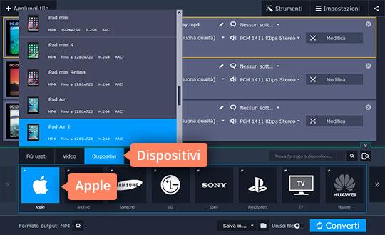 Convertite file video per Ipad con facilità