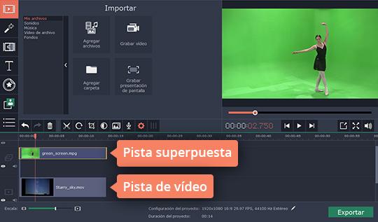 Haga vídeos con efecto Chroma Key en el programa poderoso de Movavi