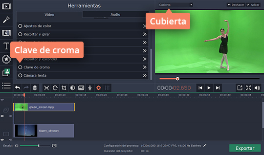Haga Chroma Key casero fácilmente con Movavi Video Editor