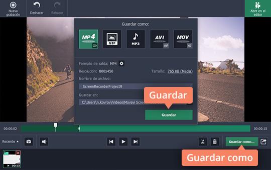Baje los vídeos Flash con el capturador de Movavi