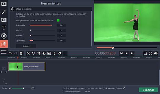 Haga la pantalla verde en vídeos con el software sencillo de Movavi