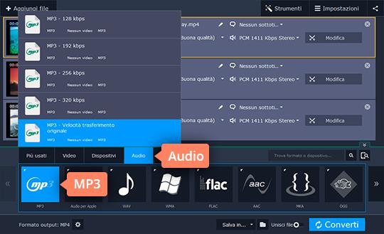 Estraete la traccia audio dai video con due clic