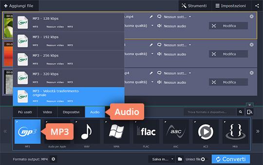 Provate il convertitore da MP4 a MP3 di Movavi