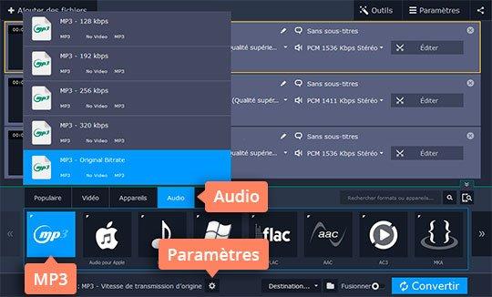 Essayez le convertisseur WAV - MP3 rapide