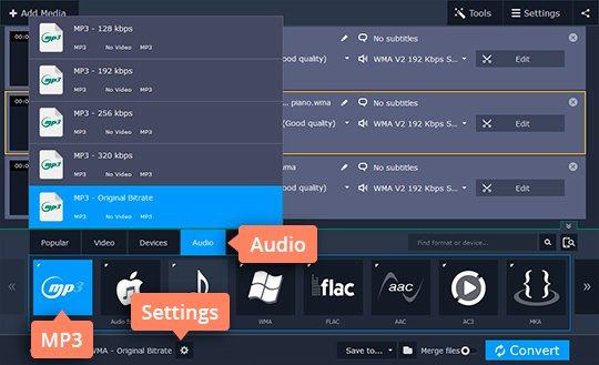 Music Converter | Audio File Converter by Movavi