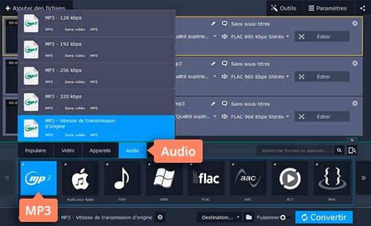 Utilisez le convertisseur FLAC en MP3 de Movavi