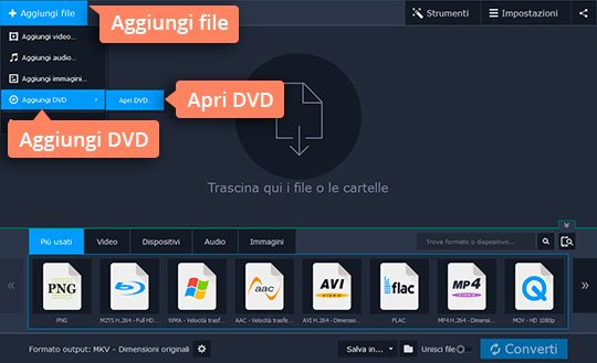 Convertite file MKV in DVD con Movavi