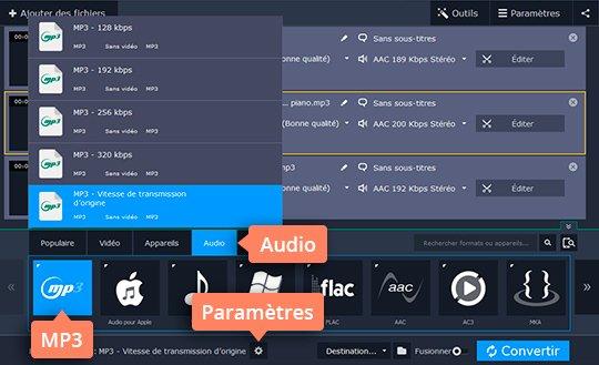 Convertissez de la musique en MP3 avec Movavi