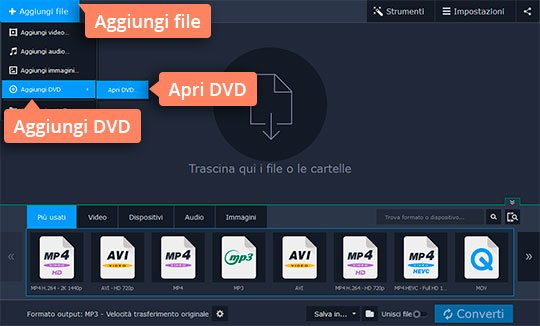 Convertite file DVD in AVI con facilità