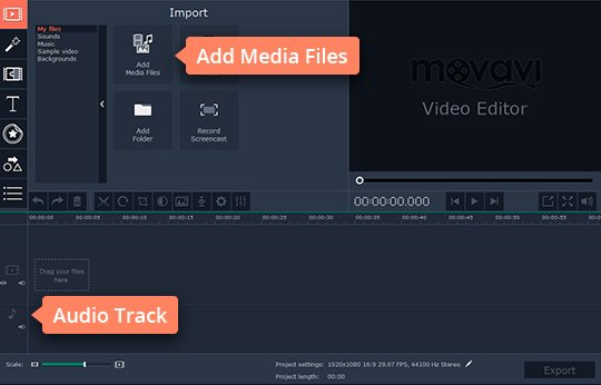 Add your audio files to the music cutter