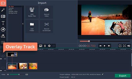 Create an overlay video clip
