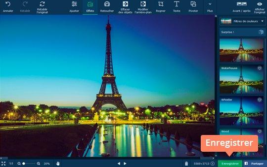 Mettez des effets sur une photo avec Movavi Photo Editor