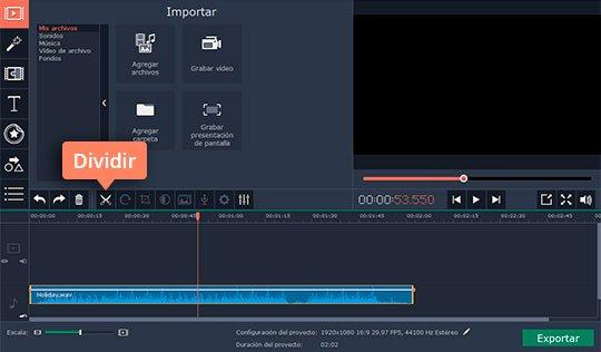 Corte sus audios favoritos con el editor sencillo de Movavi