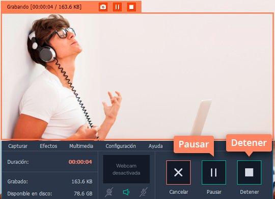 Use el fácil grabador de audio online de Movavi