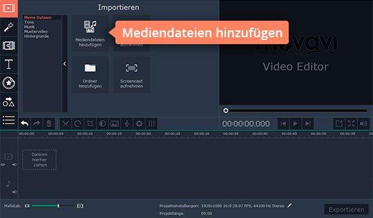 Probieren Sie, mit Movavi die Video-Lautstärke anzupassen
