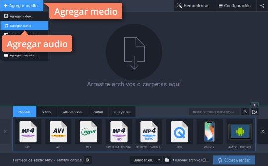 Convierta sus vídeos WMA a MP3 y viceversa con Movavi Video Editor
