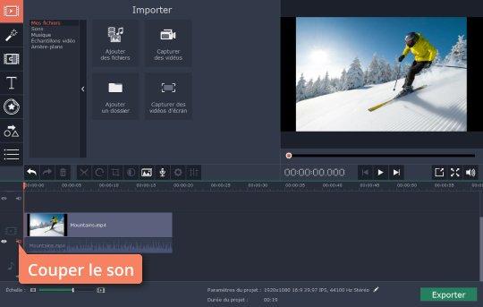 Enlever le son d 39 une vid o movavi video editor - Couper une musique mp3 en ligne ...