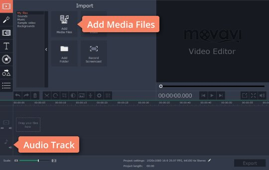 Add audio files to the MP3 cutter