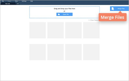 to merge two pdf files