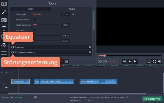 Benützen Sie Movavi Video Editor als Musikbearbeitungsprogramms