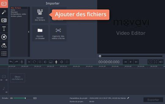VideoPad - Logiciel de montage vidéo - Captures d'écrans