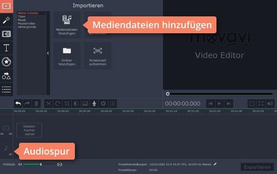 Probieren Sie, mit Movavi die Datei hochzuladen und MP3 zu schneiden