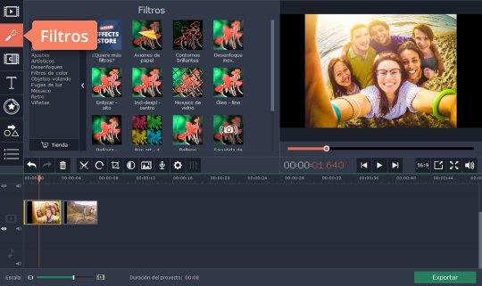 Use el programa para efectos especiales de vídeo de Movavi
