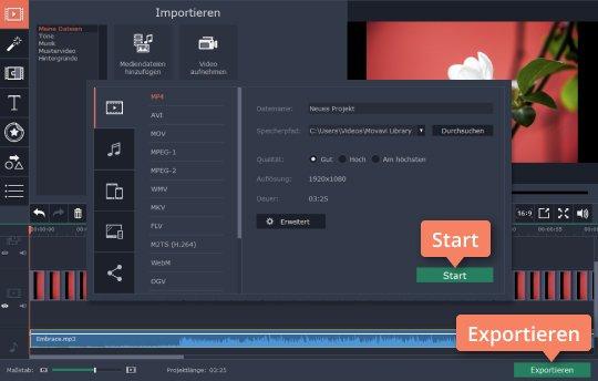 Exportieren Sie Ihr Video, nachdem Sie Timelapse erstellt haben
