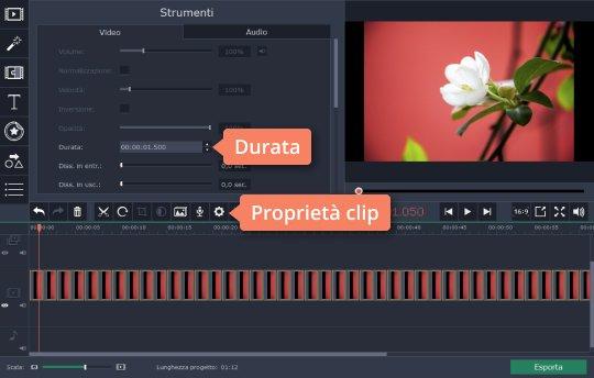 Create un video in time lapse con Movavi