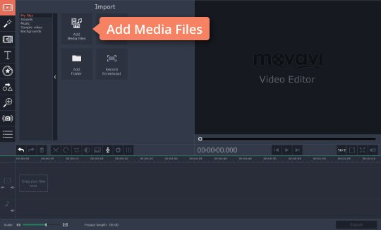Add files to the video lighting editor
