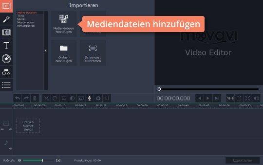 Platzieren Sie Ihr Video im Programm, um GoPro-Videos zu bearbeiten