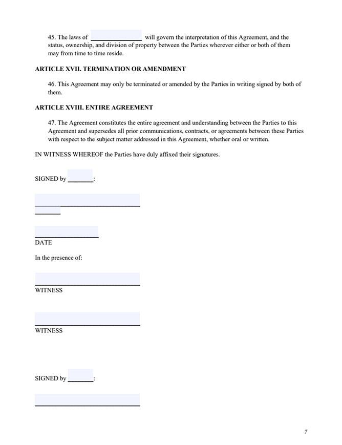 Free Prenup Form Sample Of Prenuptial Agreement Movavi