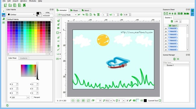 2d animation software free download for windows 7 32 bit
