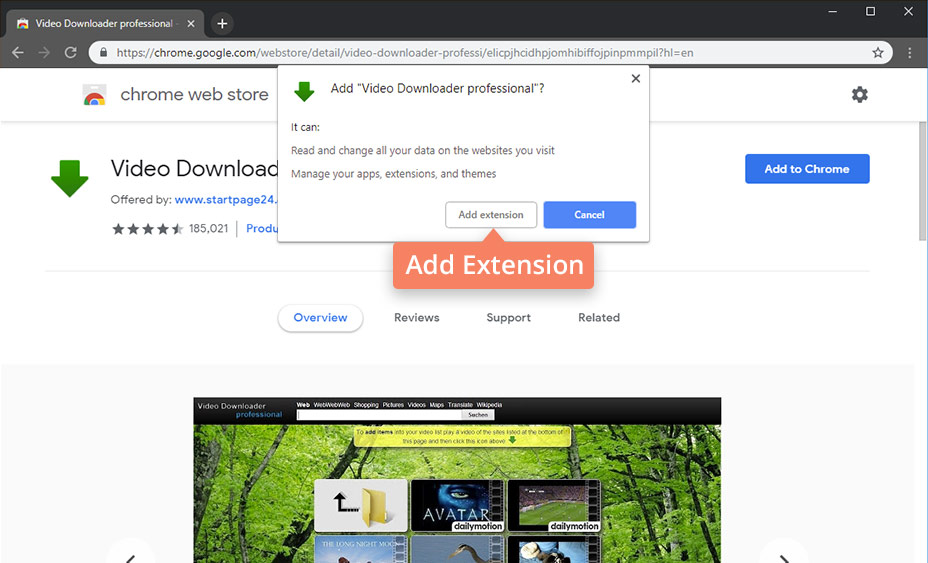dailymotion downloader chrome