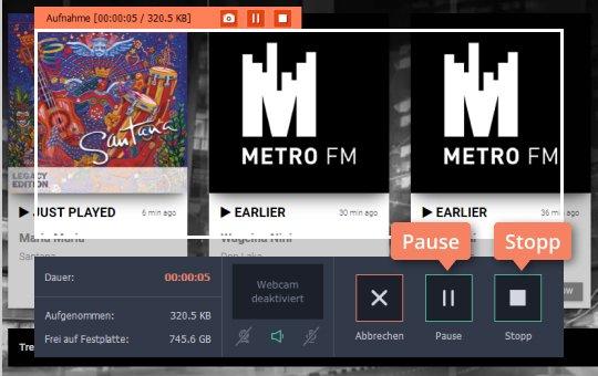 Verwenden Sie Movavi Video Editor als Internet-Radio-Recorder