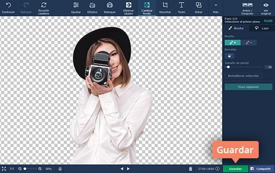 Borre el fondo de una imagen rápidamente con el software de Movavi